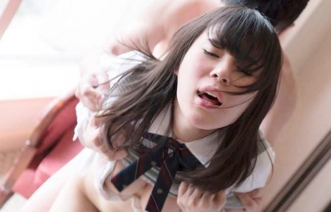 【S級美少女】激しいよぉーー/ワレメ丸見えオメコを恥ずかしそうに隠す純情JKを大人チンポでガン突き激ピストンで…幼穴責め