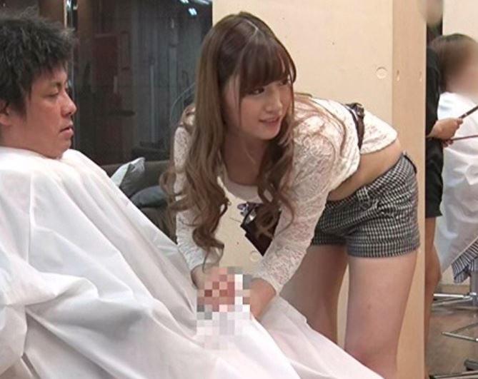 お客さんの…カッチカチで…スゴ…い♡ングング♡痴女美容師の濃厚サービスは風俗を越えた♡美乳アピの淫乱お姉さんに悶絶